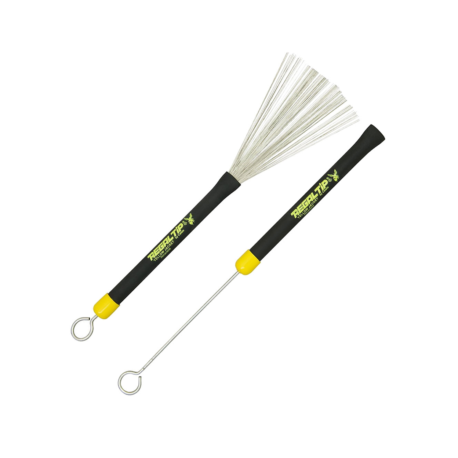 Drum Sticks Regal Tip Retractable Brushes Yellow Jacket