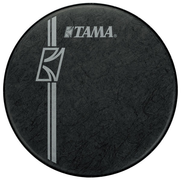 bass drum logo heads bass drum heads tama 22 inch hyperdrive logo drum head black. Black Bedroom Furniture Sets. Home Design Ideas