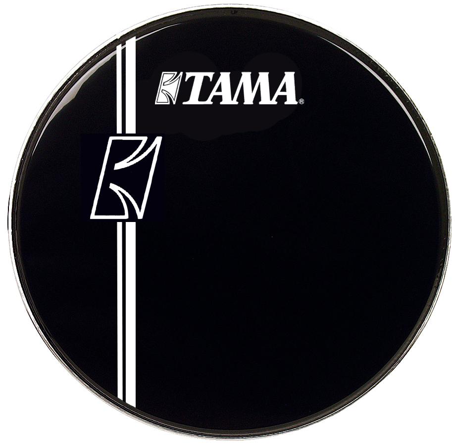 bass drum logo heads bass drum heads tama 24 inch hyperdrive logo drum head black. Black Bedroom Furniture Sets. Home Design Ideas