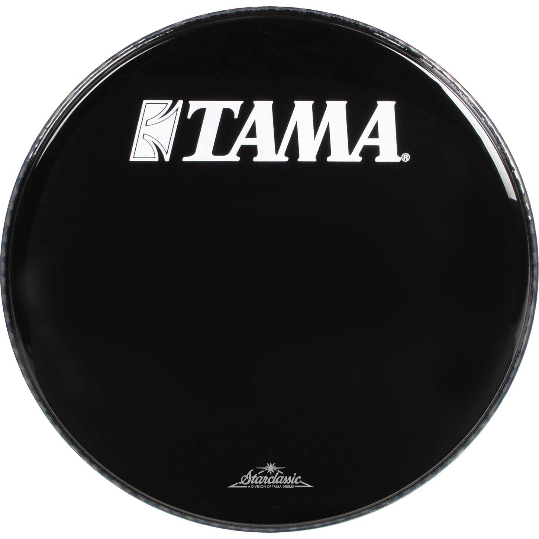bass drum logo heads bass drum heads tama 24 inch starclassic logo drum head black. Black Bedroom Furniture Sets. Home Design Ideas