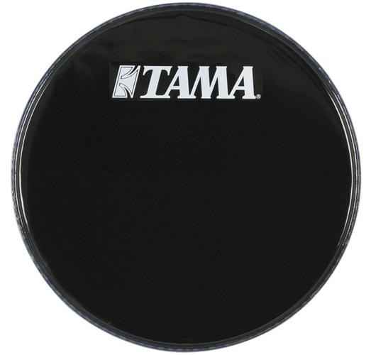 bass drum logo heads bass drum heads tama 24 inch logo drum head black. Black Bedroom Furniture Sets. Home Design Ideas