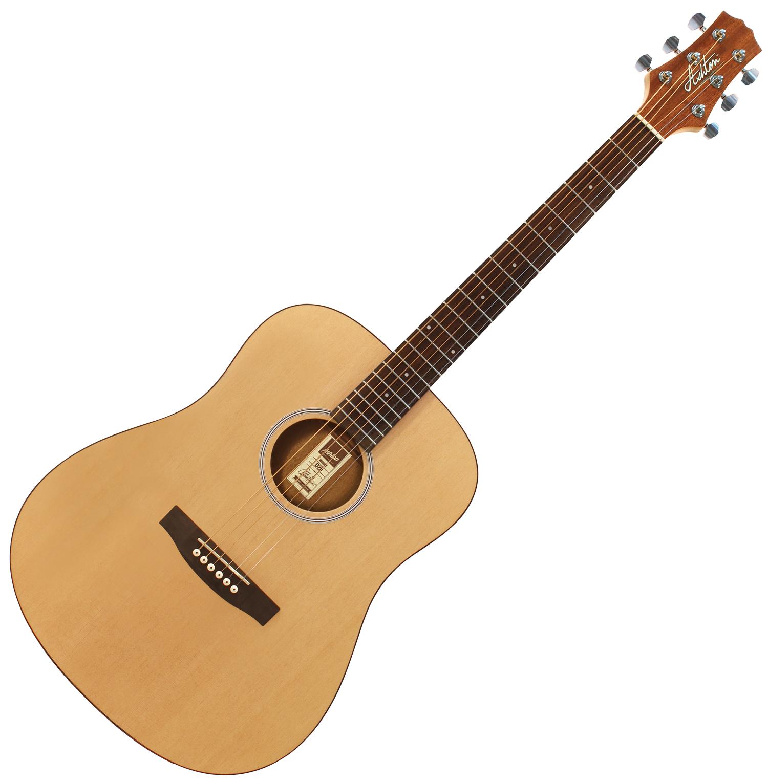 Musicworks Guitars Acoustic Guitars Acoustic Guitars Ashton D20 Acoustic Guitar Natural Matt