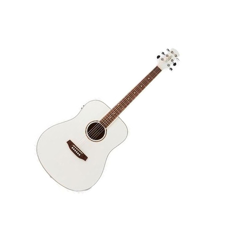 Musicworks Guitars Acoustic Electric Guitars Acoustic Electric Guitar Ashton D26eq Dreadnaught Acoustic Guitar White