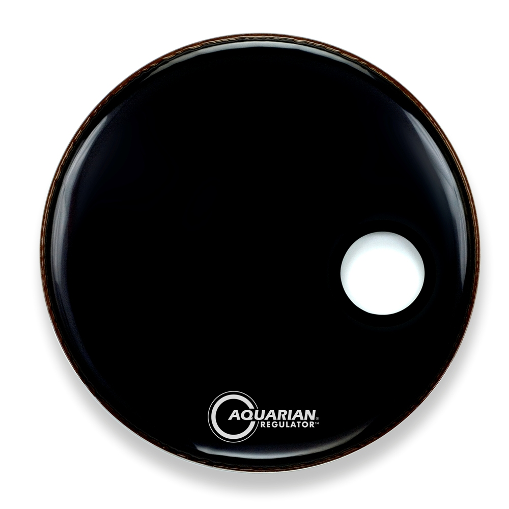 bass drum logo heads bass drum heads aquarian regulator 20 inch bass drum head w off centre hole. Black Bedroom Furniture Sets. Home Design Ideas