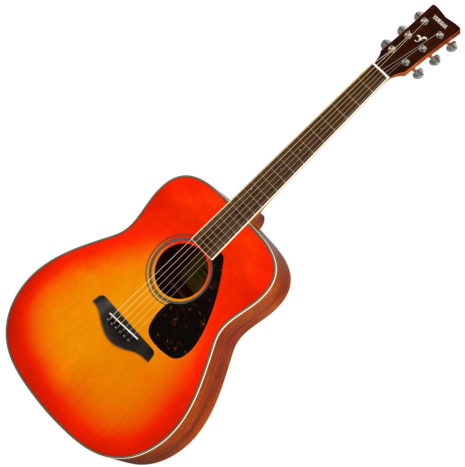Musicworks Guitars Acoustic Guitars Acoustic Guitars Yamaha Fg820 Solid Top Acoustic Guitar Autumn Burst