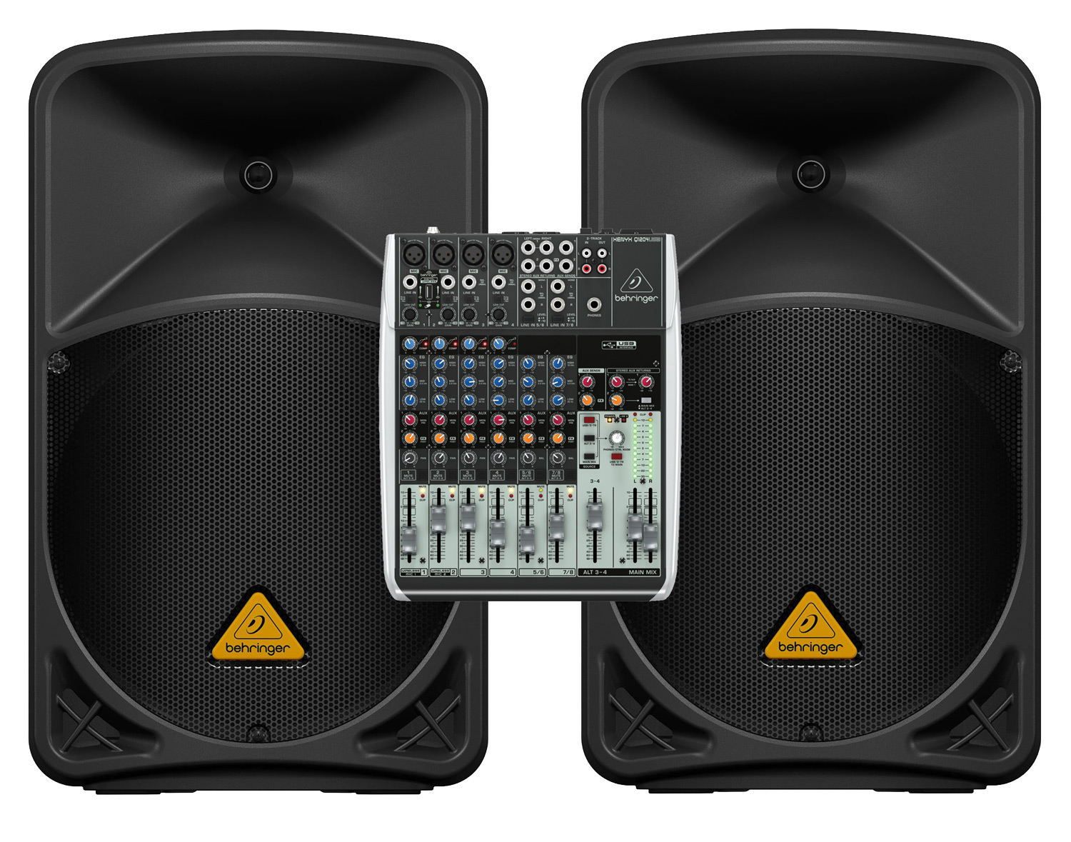 how to connect powered mixer to powered speakers