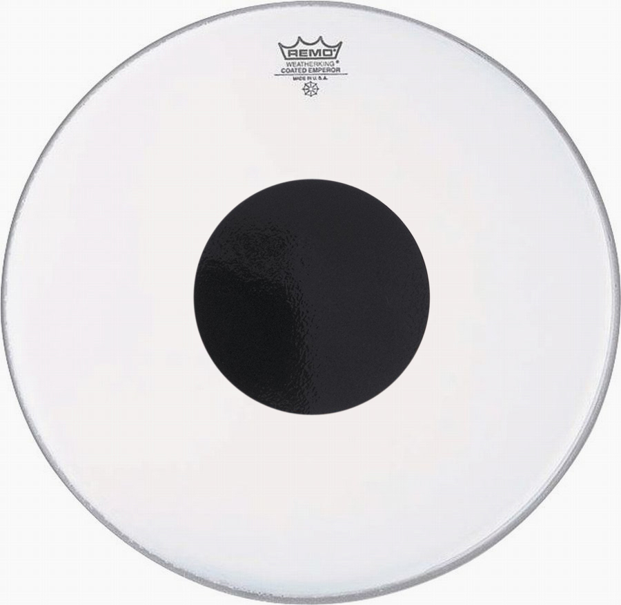 snare drum heads remo 14 inch coated emperor x black dot drum head. Black Bedroom Furniture Sets. Home Design Ideas