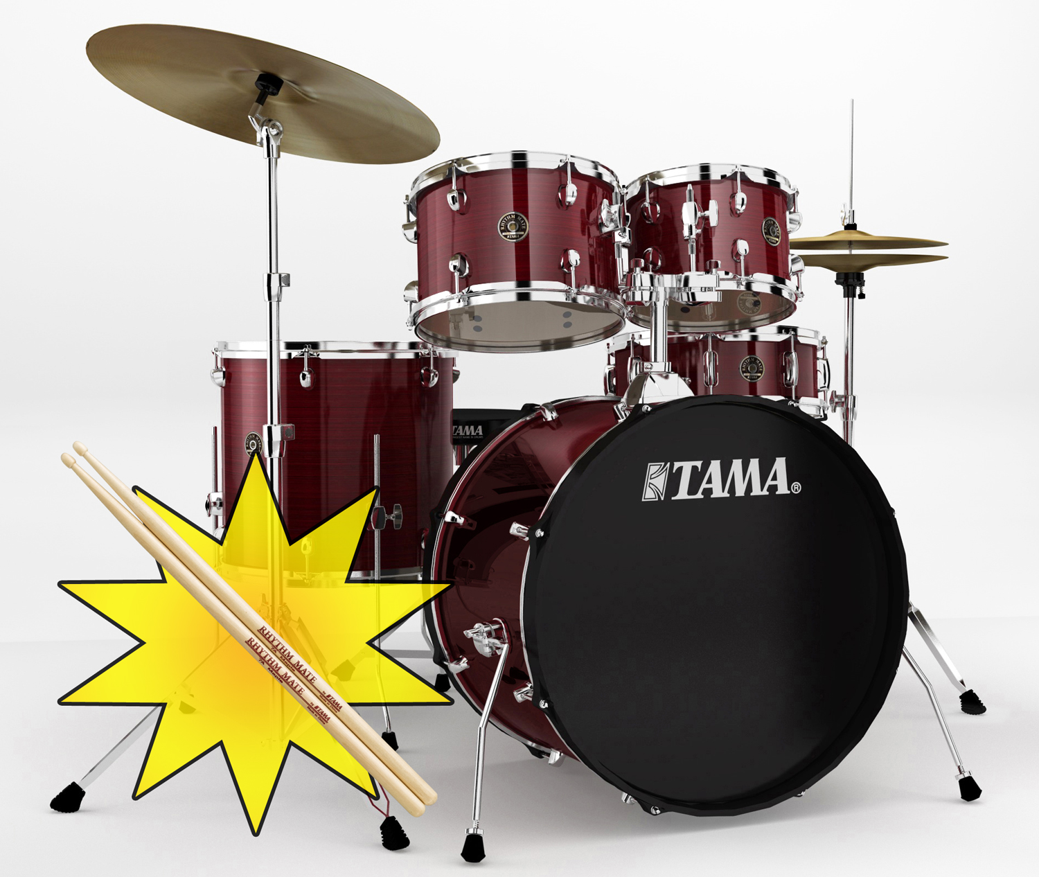 musicworks drums percussion rock drum kits rock kits tama rm rhythm mate drum kit with. Black Bedroom Furniture Sets. Home Design Ideas