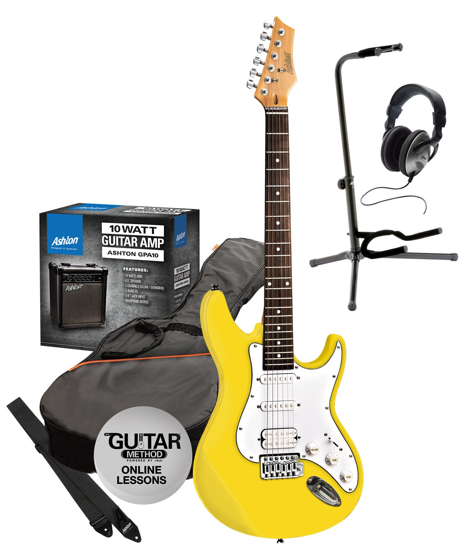 musicworks guitars electric guitar packs w amp electric guitar packs ashton electric. Black Bedroom Furniture Sets. Home Design Ideas