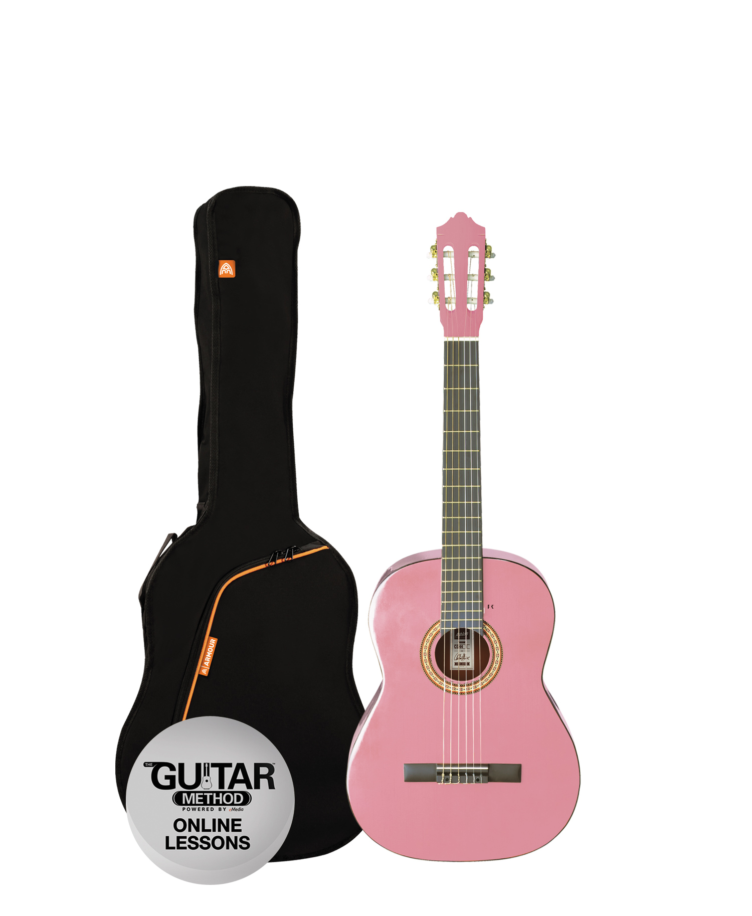 Musicworks Guitars Classical Guitar Packs Classical Guitar Pack Ashton Spcg14 Classic Guitar Pack 1 4 Pink