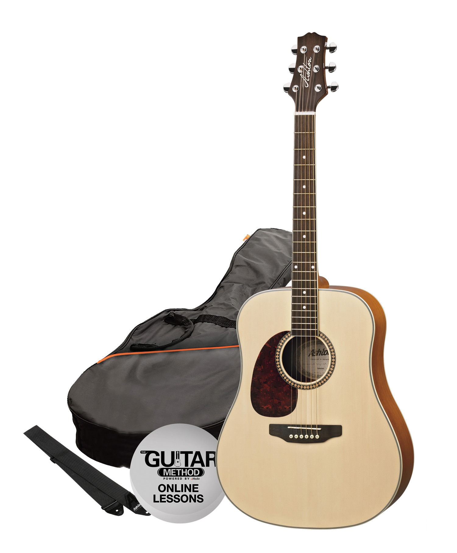 acoustic left handed acoustic left handed ashton acoustic guitar pack l hand natural matt. Black Bedroom Furniture Sets. Home Design Ideas