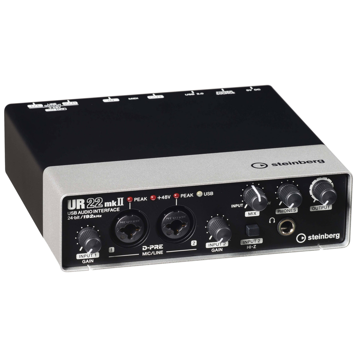 Musicworks Home Studio Recording Usb Interfaces Firewire Interface Steinberg Ur22 Mkii Audio