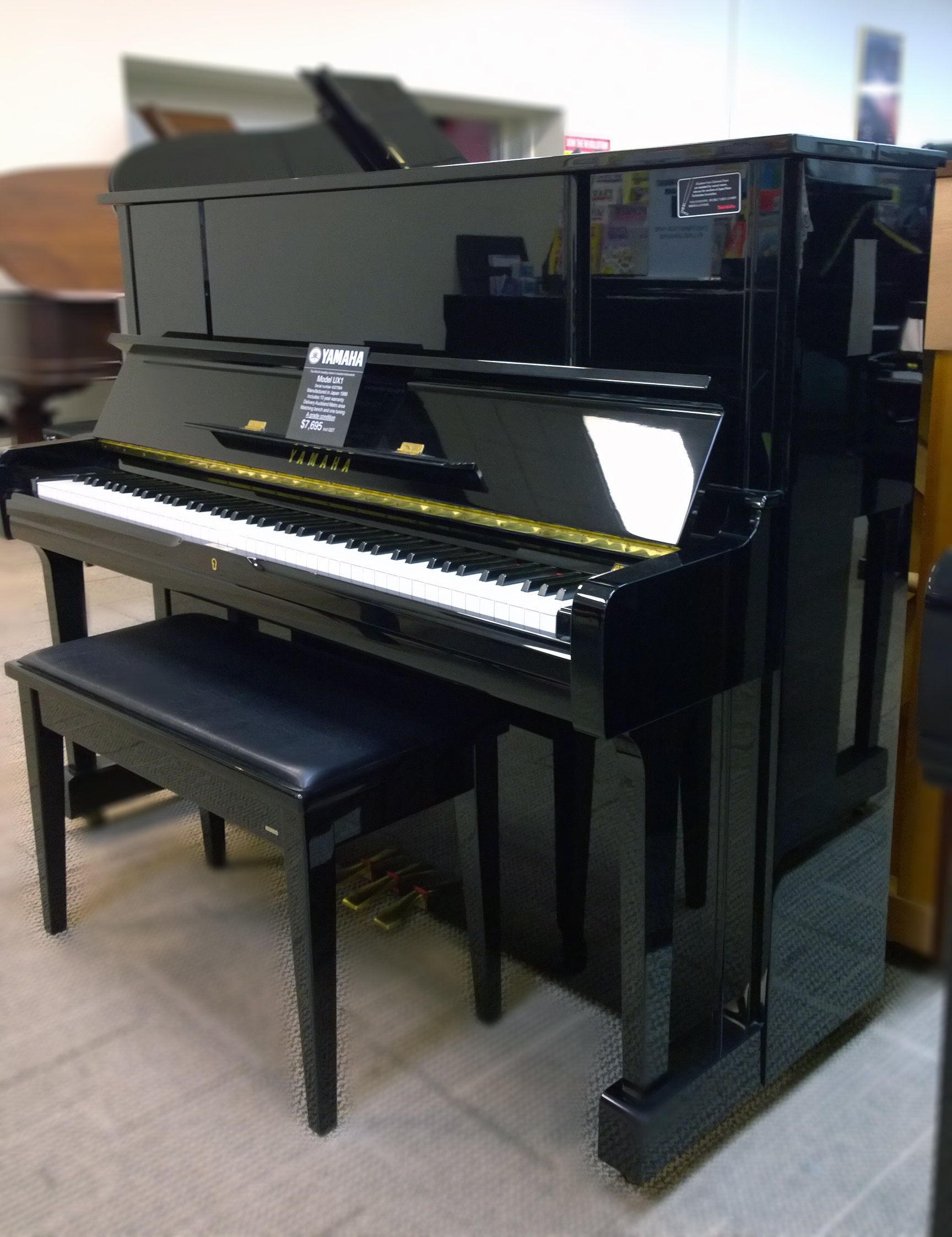 pre loved pianos yamaha ux1 upright piano 2nd hand 4307994