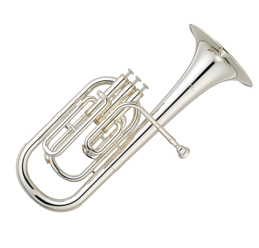 Musical Instruments & Gear Yamaha Yah-203s Tenor Horn In Silver Plate Alto Horns