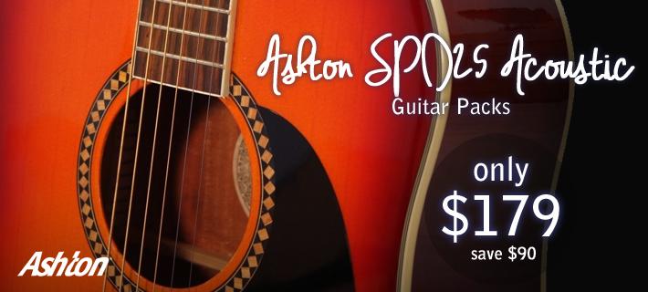Ashton SPD25 Acoustic Guitar Packs $179