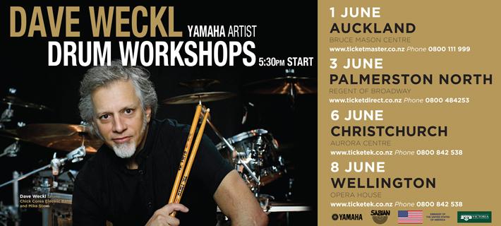 Dave Weckl Drum Workshop Tour 2017