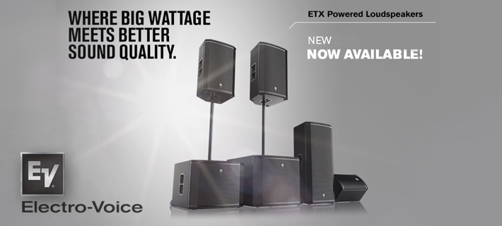 Electro Voice New ETX Powered Speakers