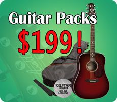 Acoustic Guitar Packs $199