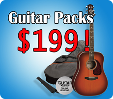 Acoustic Guitar Packs $199
