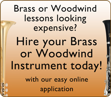 Hire your brass and woodwind instruments here