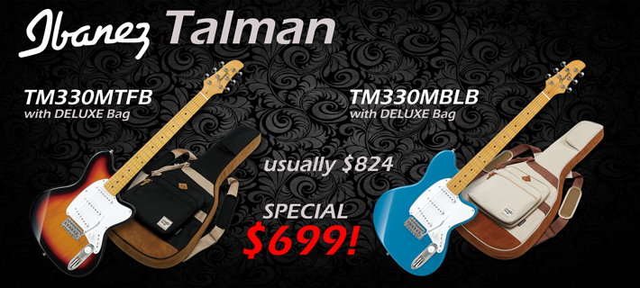 Ibanez TM330M Talman Electric with Deluxe Bag