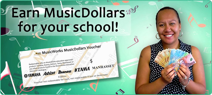 Earn MusicDollars for your school