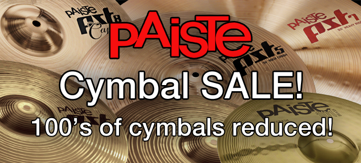 15% Off Selected Paiste cymbals for September