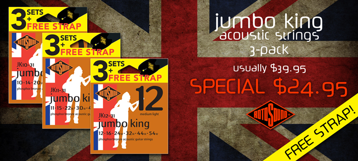 Rotosound Jumbo King 3 Pack Special