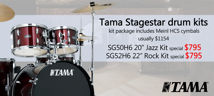 Tama Stagestar Drum Kit with Meinl Cymbals