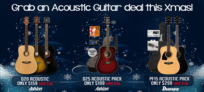 Acoustic Guitars for Xmas!