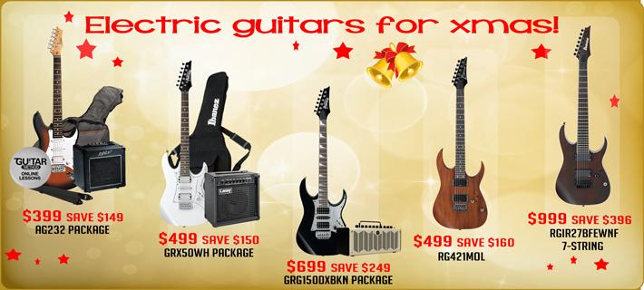 Xmas Electric Guitar Specials