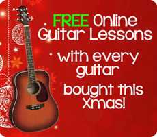 FREE Online Guitar Lessons with every guitar purchased this Xmas!