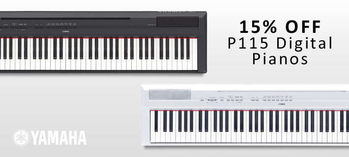 15% Off Yamaha P115 Digital Pianos
