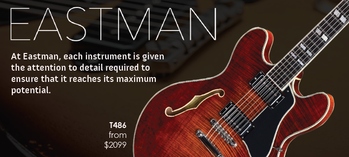MusicWorks exclusively distribute Eastman guitars in NZ