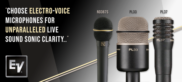 Evolve Microphones: The ND367S, PL33 and PL37 are available to purchase.