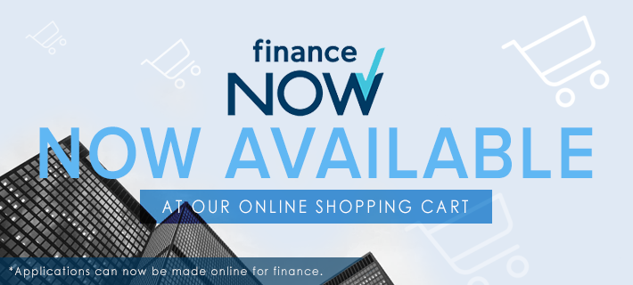 Finance Now is Now available from our Online Cart