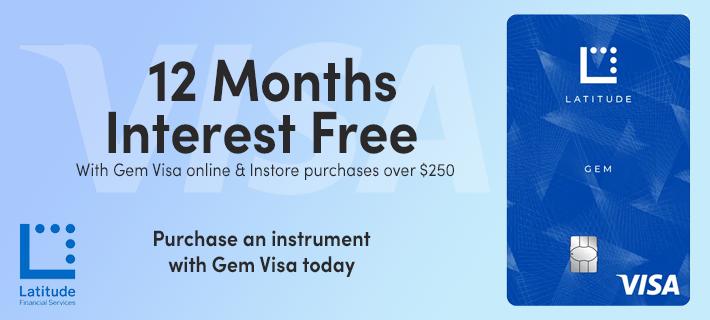 MusicWorks offer GEM VISA as a payment method.