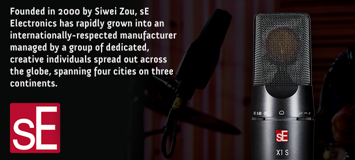 SE Electronics microphones are now in stock