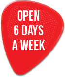Open 6 days a week