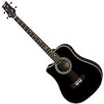 Ashton Electric Acoustic Bass Guitar, Black, L/Hand ACB100CEQLBK