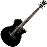 Ibanez Acoustic/Electric Guitar, Black AEG10IIBK