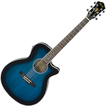 Ibanez Acoustic/Electric Guitar, Trans Blue Sunburst AEG8ETBS