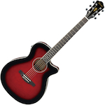 Ibanez Acoustic/Electric Guitar, Transparent Red Sunburst AEG8ETRS