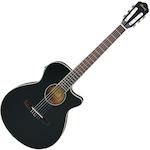Ibanez Acoustic/Electric Guitar, Black Flat AEG8TNEBKF