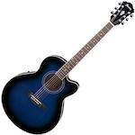 Ibanez AEL Acoustic/Electric Guitar, Blue Sunburst AEL10EMBS
