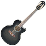 Ibanez Acoustic/Electric Guitar 12 String, Transparent Black AEL2012ETKS
