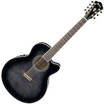 Ibanez Acoustic/Electric Guitar 7 String, Transparent Black AEL207ETKS