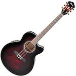 Ibanez Acoustic/Electric Guitar, Transparent Cherry AEL20ETCS