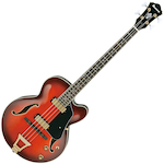Ibanez Semi Acoustic Artcore Bass, Sunset Red AFB200SRD