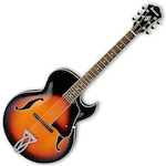 Ibanez Acoustic Jazz Guitar, Brown Sunburst AK80ABS